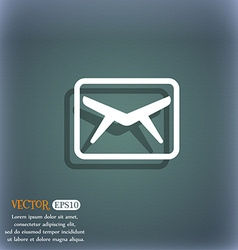 Mail Envelope Message icon symbol on the vector image