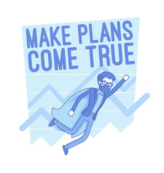 make plans come true lineart concept vector image