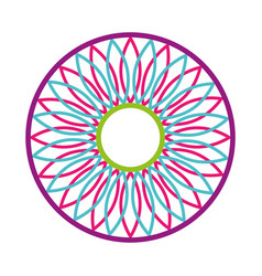 mandala retro culture icon vector image