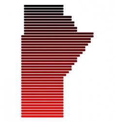 map of Manitoba vector image vector image