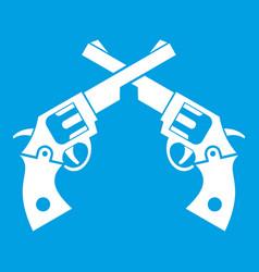 revolvers icon white vector image