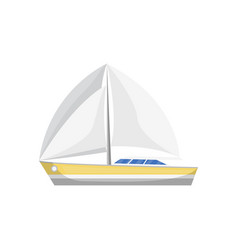 sea sailboat side view isolated icon vector image