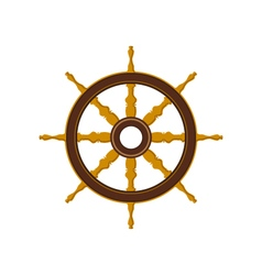 Ship Wheel Isolated on White vector image