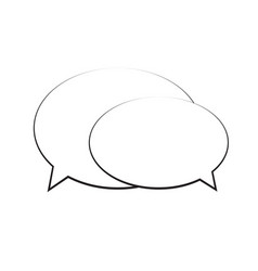 speech bubble icon isolated vector image