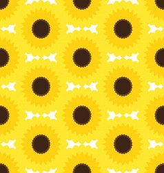 Sunflower patternyellow flower pattern vector