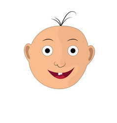 The of a child s face with a smile vector