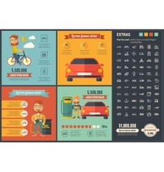 Transportation flat design infographic template vector
