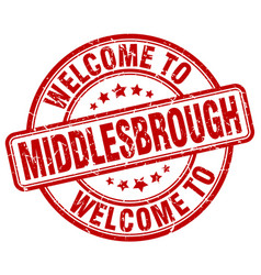 welcome to middlesbrough vector image