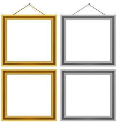 Wood Frame Set vector image vector image