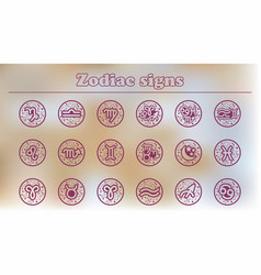 Zodiac icons set of zodiac vector