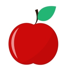 Fresh red apple icon vector