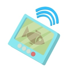 Fishing echo sounder icon cartoon style vector