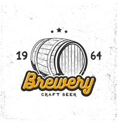 Creative logo design with beer barrel vector image