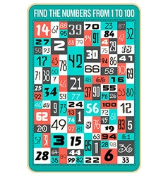 Find the numbers vector