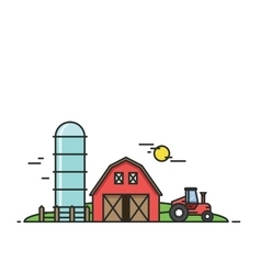 Rural landscape agriculture and farming vector