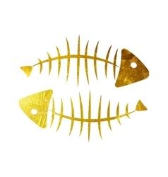 Fish bone background vector