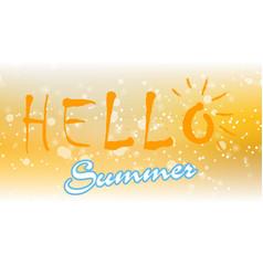 Hello summer 8 vector