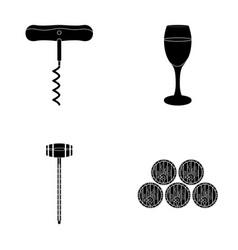 Corkscrew alcohol counter barrels in the vault vector