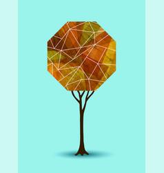 Abstract fall tree geometric design vector