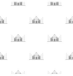 Taj mahal pattern seamless vector