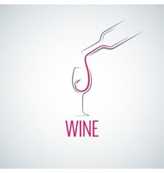 wine glass concept menu background vector image