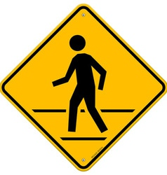 Pedestrian Traffic Sign vector image