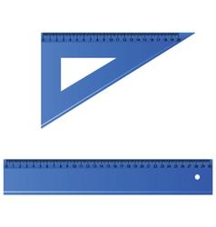 blue ruler vector image