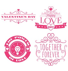 Valentines day set of label badges stamp and vector