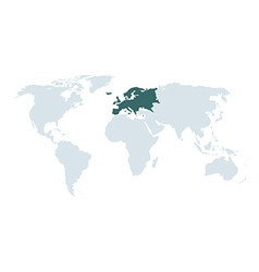 World map europe vector