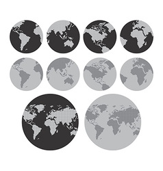 World map theme vector
