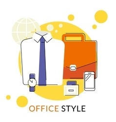 Male office accessories vector