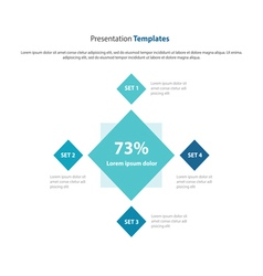 Square presentation and infographic template vector