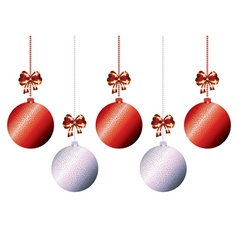 Decorative xmas balls8 vector