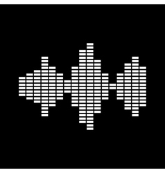 The sound wave and equalizer icon audio radio vector