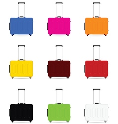 Travel baggage color vector