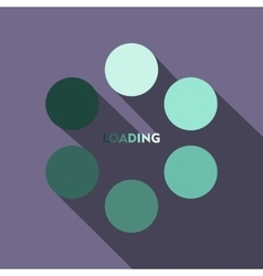 Loading icon in flat style vector