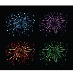 Fireworks colour set vector