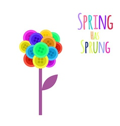 Abctract buttons flower Spring has sprung vector image vector image