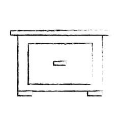 Bedside table furniture modern style image sketch vector