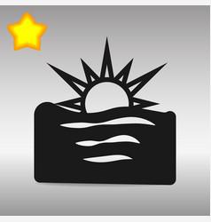 Black sunrise icon button logo symbol concept vector