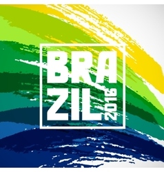 Brazil abstract background with grunge paint vector image