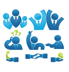business office team and development vector image