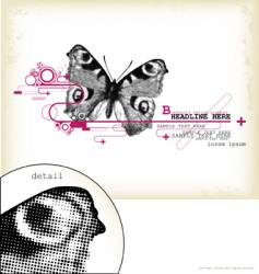 butterfly design element vector image