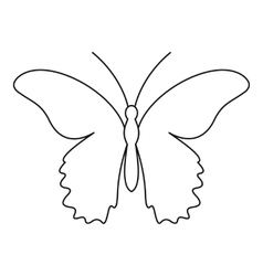 Butterfly urticaria icon outline style vector