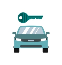Car key icon flat style vector image