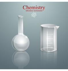 Chemistry glass laboratory instruments vector