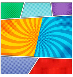 comic book page colorful backgrounds set vector image vector image