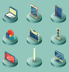 design color isometric icons vector image