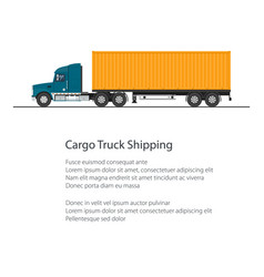 Flyer shipping and freight of goods vector