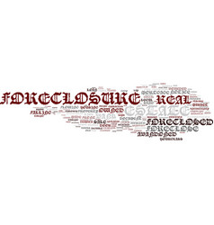 Foreclosure word cloud concept vector